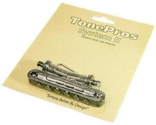 TonePros T3BT Locking Metric Tuneomatic Guitar Bridge, BLACK