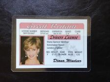 Princess Diana Lady Di Souvenir Drivers License ID ~ Fun, Cool Memorabilia ~NEW~