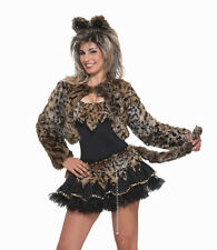Feline Fantasy Shrug Jacket Leopard Cat Animal Halloween Adult Costume Accessory