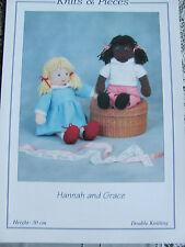 Tejer patrón para Hannah y Grace Muñecas Fabricada En doble fontura. Kp08