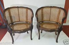 Très rare et très importante paire de bergères Louis XV corbeille