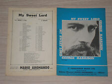 GEORGE HARRISON - MY SWEET LORD - SPARTITO /SHEET MUSIC ITALY