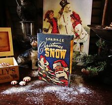 Primitive Retro Christmas Natural Glitter Mica Flakes Powder Snow Sparkle Box