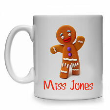 PERSONALISED GINGERBREAD MAN MUG CUP GIFT PRESENT IDEA LOVER ANY NAME TEXT