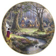 Snow White Discovers Cottage Disney Thomas Kinkade Plate  - Bradford Exchange