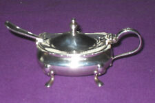 ANTIQUE ART DECO 1925 SOLID STERLING SILVER MUSTARD POT BY WILLIAM SUCKLING