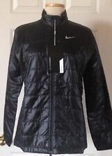 $150 NWT Womens Nike Golf 845072 Filled Thermal Full Zip Puffer Jacket Black L