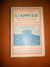 LIBRO L'APPULO SUSSIDIARIO SAVERIO LA SORSA LANCIANO -  CARABBA EDITORE 1925