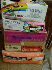 Vintage Lot of Halloween Items - 2  Ben Cooper Costumes, other  Mask