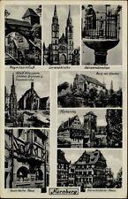 Nürnberg Bayern Bavaria AK 1941 Lorenzkirche Gänsemannchen Hans Sachs Haus u.a.