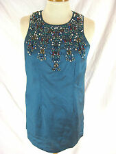 Gorgeous Sz 8 10 Beaded Belle by Oasis Turquoise Cocktail Dress Designer