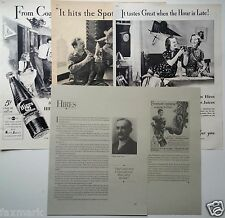 HIRES ROOT BEER 1930's Ads (3) & 4 Pages of HIRES History & Photos...