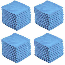 50 x BLUE CAR CLEANING DETAILING MICROFIBER SOFT POLISH CLOTHS TOWELS LINT FREE