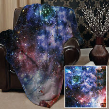 GALAXY 2 DESIGN SOFT PICNIC THROW BLANKET BED COVER SPACE GREAT GIFT L&S PRINTS