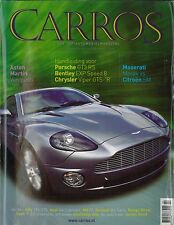 2002 CARROS MAGAZIN 2 ASTON MARTIN VANQUISH PORSCHE GT3 RS BENTLEY EXP SPEED 8