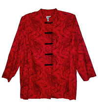 R&M Richards, Red with Black, Oriental Style Evening Jacket, size 22W