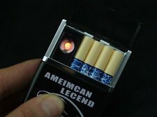 Mini multifunction usb rechargeable lighter cigarette case