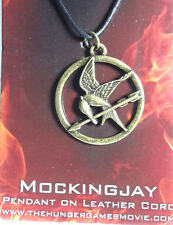 Hunger Games Mockingjay Pendant on Leather Cord- Carded- FREE S&H (HGJW-52)