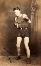 Vintage 1927 Photo of Boxer Curly Biggs, Signed