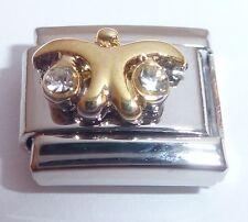 LIBRA Italian Charm CLEAR GEMS Crystals Horoscope Zodiac Symbol 9mm Classic Size