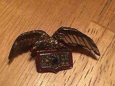 WWII US Sterling Silver Eagle with Service Star Flag sweetheart Pin