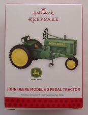 Hallmark 2013 John Deere Pedal Car Tractor Die Cast Metal Christmas Ornament