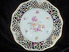 "Antique Schumann Germany Chateau Dresden Flowers Decorated 10 3/8"" Plate"