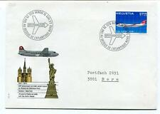 FFC 1972 Swissair Special Flight Geneve New York 25 Anniversaire Atlantique Nord