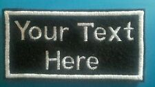 Personalised name, patch, emblem, badge. Iron-on/sew-on 100mm x 50mm