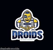 Star Wars C-3PO R2-D2 droids jedi Sticker decal car laptop scrapbooking cute