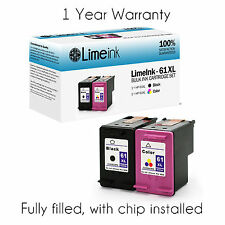 2 pk 61XL Black Color Ink cartridge for HP ENVY 4500 4501 4502 4504 5530 Deskjet