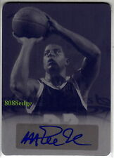 2013 SPORTS HEROES PRINT PLATE AUTO: MAGIC JOHNSON #1/1 OF ONE AUTOGRAPH LAKERS