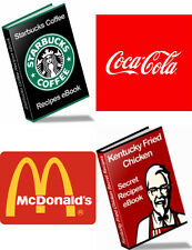 4 Top Brand Secret Recipe Guides (eBooks-PDF files) Free Shipping
