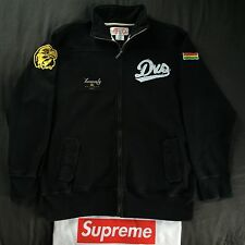 "DVS Shoes ""Army"" Black Track Jacket (L) Supreme Diamond Supply Co Nike SB Obey"