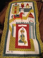 VINTAGE TAMMIS KEEFE LINEN TEA TOWEL RUNNER MINT CONDITION