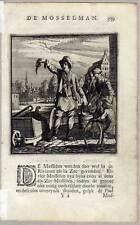 MUSCHELVERKÄUFER-DE MOSSELMAN-Austern - Kupferstich von Jan Luyken 1717