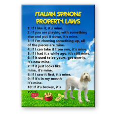 ITALIAN SPINONE Property Laws FRIDGE MAGNET No 1 DOG