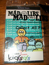 Chick-Fil-A Mad Libs School Days World's Greatest Word Game Kids Meal Toy NIP