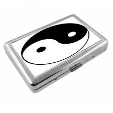 Ying & Yang D1 Taoism Silver Cigarette Case / Metal Wallet Card Money Holder