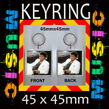 MICHAEL-JACKSON-THRILLER-COVER- KEYRING –KEY CHAIN-45X45MM- CD109