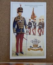 Military Uniforms Postcard Royal Hussars Presentation of New Guidon unposted