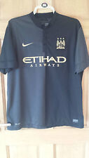 MANCHESTER CITY FC 2013-14 OFFICIAL NIKE AWAY SHIRT SIZE ADULT XL EXCELLENT