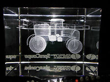 SpraCoupe Laser Cut Glass Paper Weight Farm Tractor Equipment Collectible