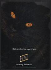 1990 JOHNNIE WALKER Black Label Blended Scotch Whisky - Black Cat - VINTAGE AD