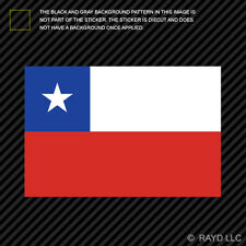 "4"" Chilean Flag Sticker Decal Self Adhesive Vinyl Chile CHL CL"