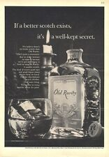 1964 Old Rarity Scotch Whisky Vintage Bottle PRINT AD