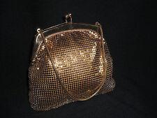 ~ Hermoso Elegante Original Vintage 1960's Gold Malla ocasión especial Bolsa ~