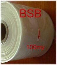 0,145€/m  100 my  LDPE Schlauchfolie   200mm breit x 250m   transparent
