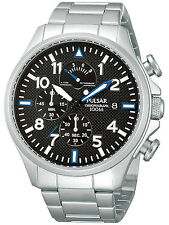 BRAND NEW PULSAR GENTS CHRONOGRAPH S/S BRACELET WATCH (PS6049X1)