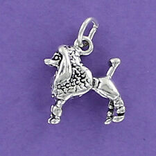 Poodle Dog Charm Sterling Silver for Charm Bracelet Fifi French Toy Standard